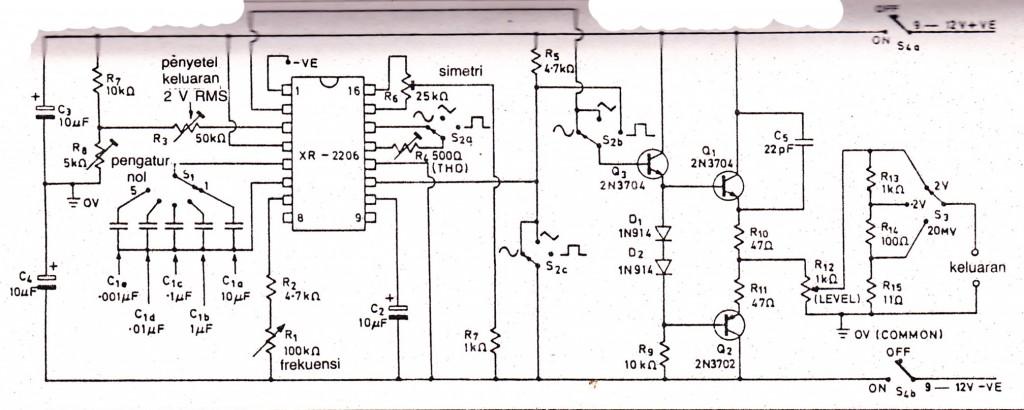 function generator electronic circuit