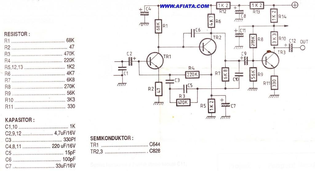 simple op amp circuit using tr c828