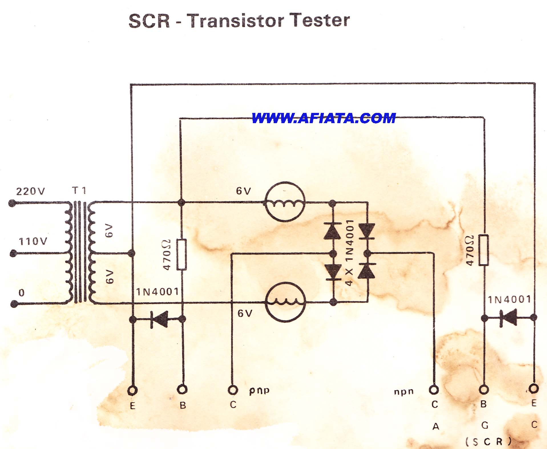 diagram scr tester