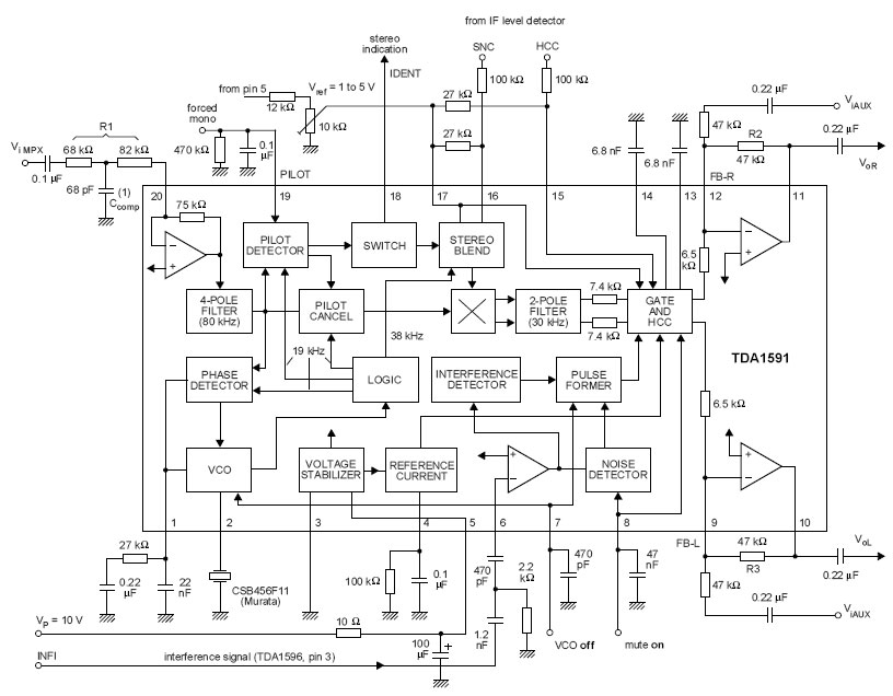 application circuit with the gl116 decoder electronics schematic