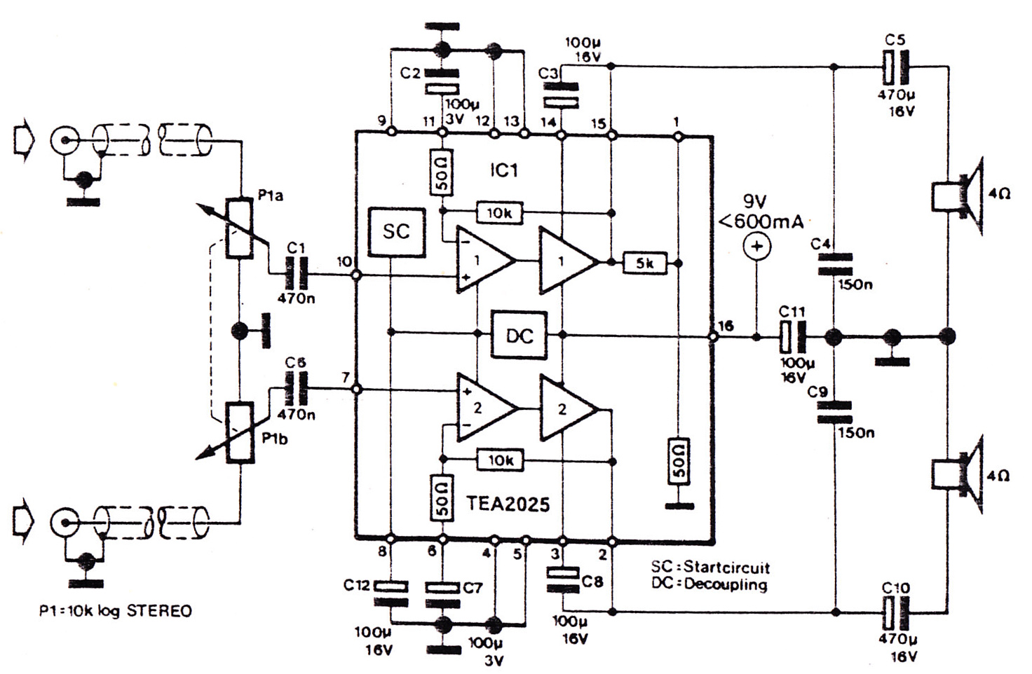 stereo mixer circuit simple audio mixer circuit