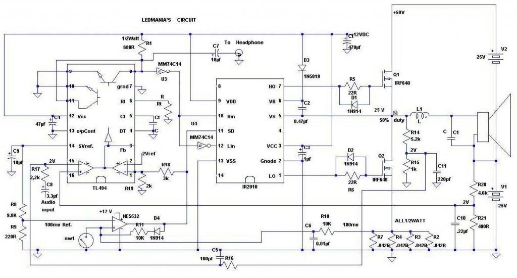 24 led spotlight circuit diagram