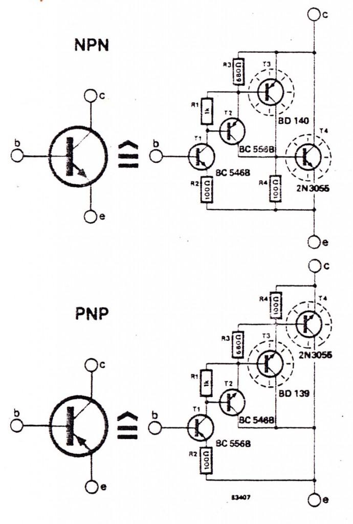 transistor detector circuit using 1 tr electronic design