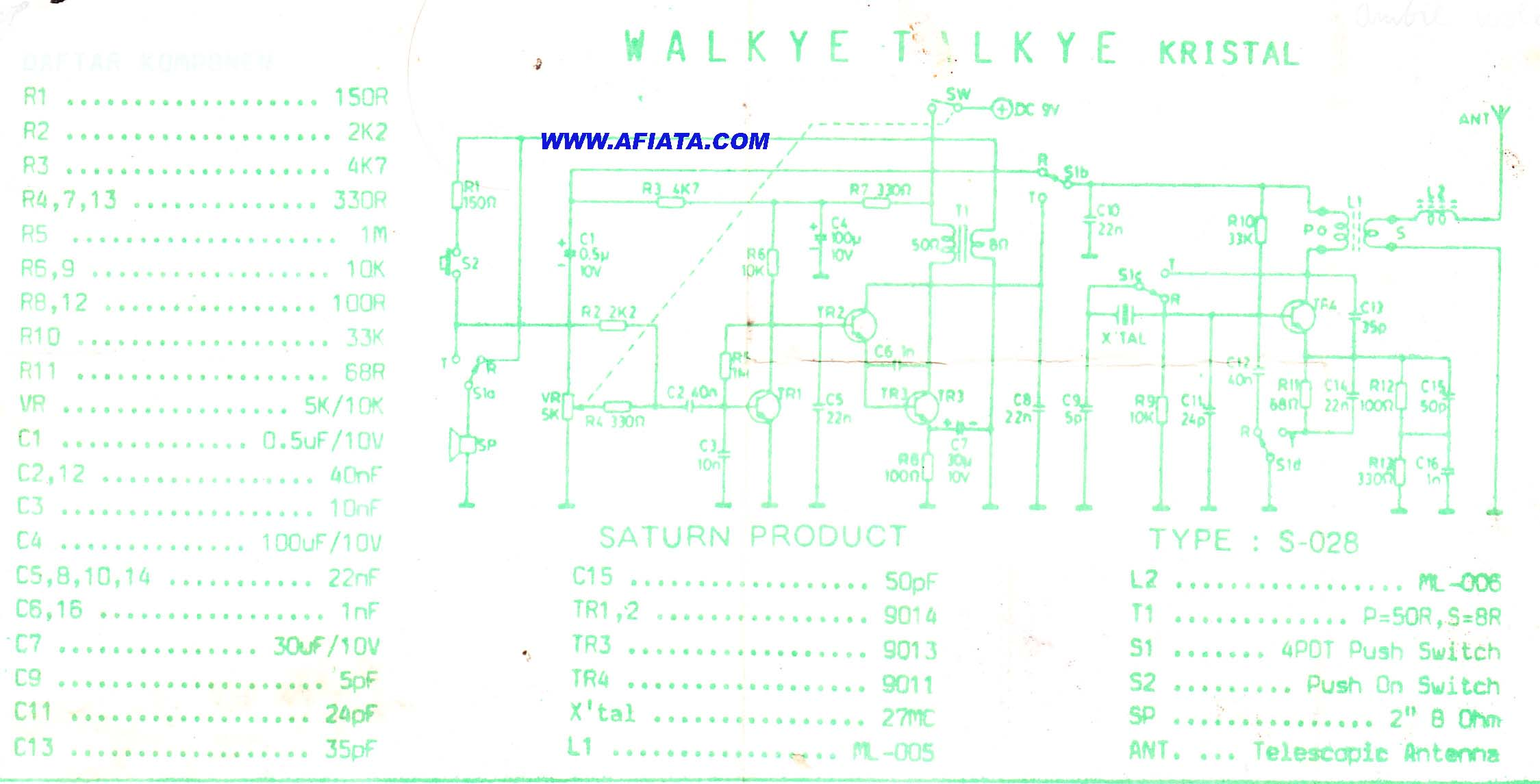 cheap walkie talkies circuit