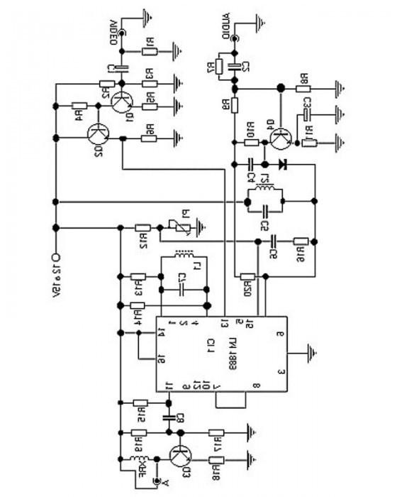 tv transmitter circuit using lm1889n