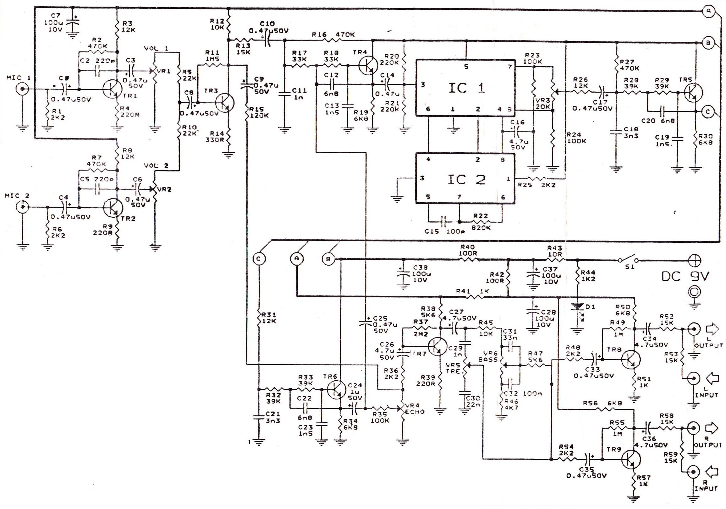 echo mic circuit diagram