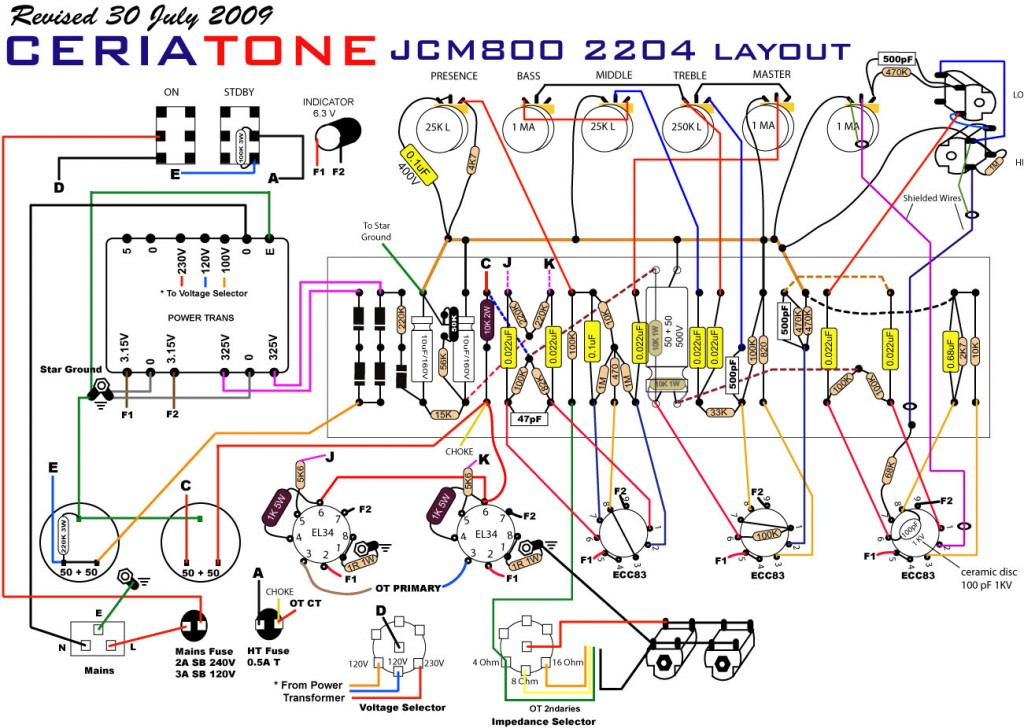 Tube tone control schematic Electronic Circuit Diagram and Layout