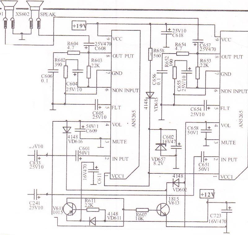 2x22w car audio amplifier circuit
