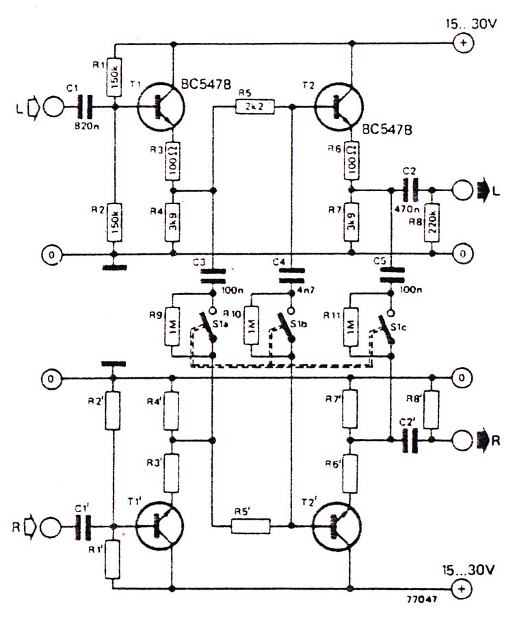 stereo noise reduction circuit schematic