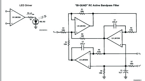 low power quad operational amplifier