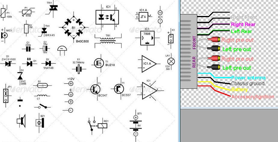Audio circuit diagram symbols Electronic Circuit Diagram and Layout