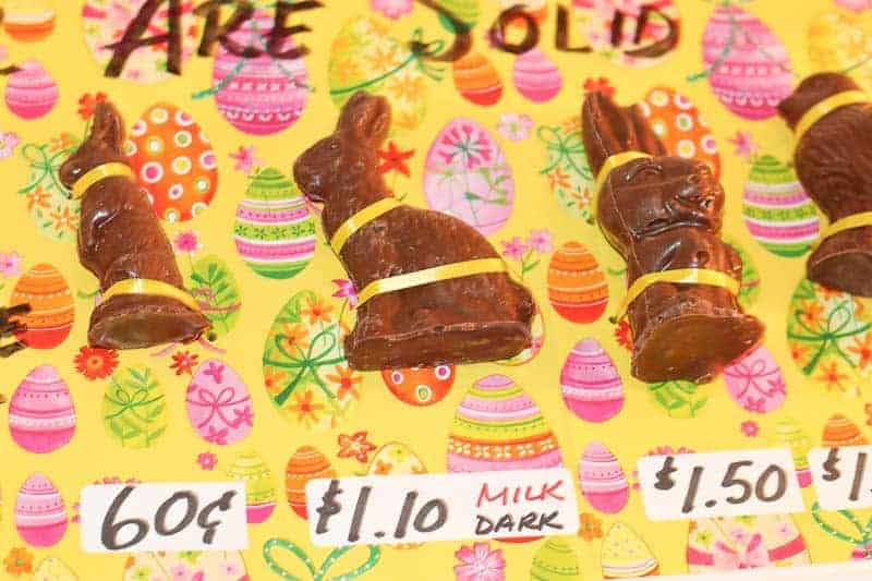 Solid Easter Bunny Chocolate from Hughes' Home Maid Chocolates