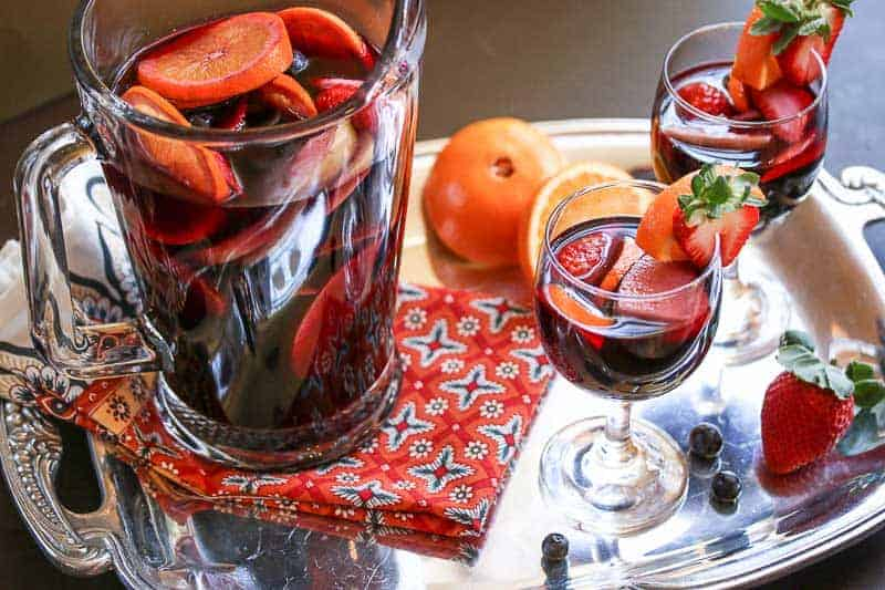 This Pomegranate Red Wine Sangria is light, fruity, refreshing, and not overly sweet.
