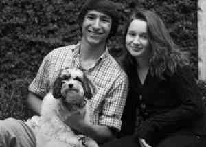 These are my children: my son Joe, my daughter Caroline, and Goliath.