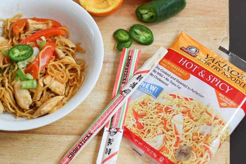 This Citrus Infused, Honey and Jalapeño Chicken Yakisoba Stir Fry Recipe is simple, easy, made with all natural ingredients, and INCREDIBLY DELICIOUS! It is a healthy one-pot meal, perfect for those busy weeknight dinners when time is limited.