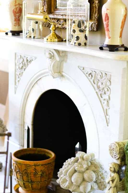 One of the Several Fireplaces at The Bentley, Kinston's Bed and Breakfast Inn