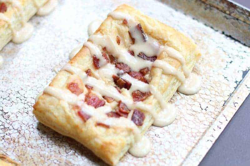 Maple Glazed Bacon and Cream Cheese Danish