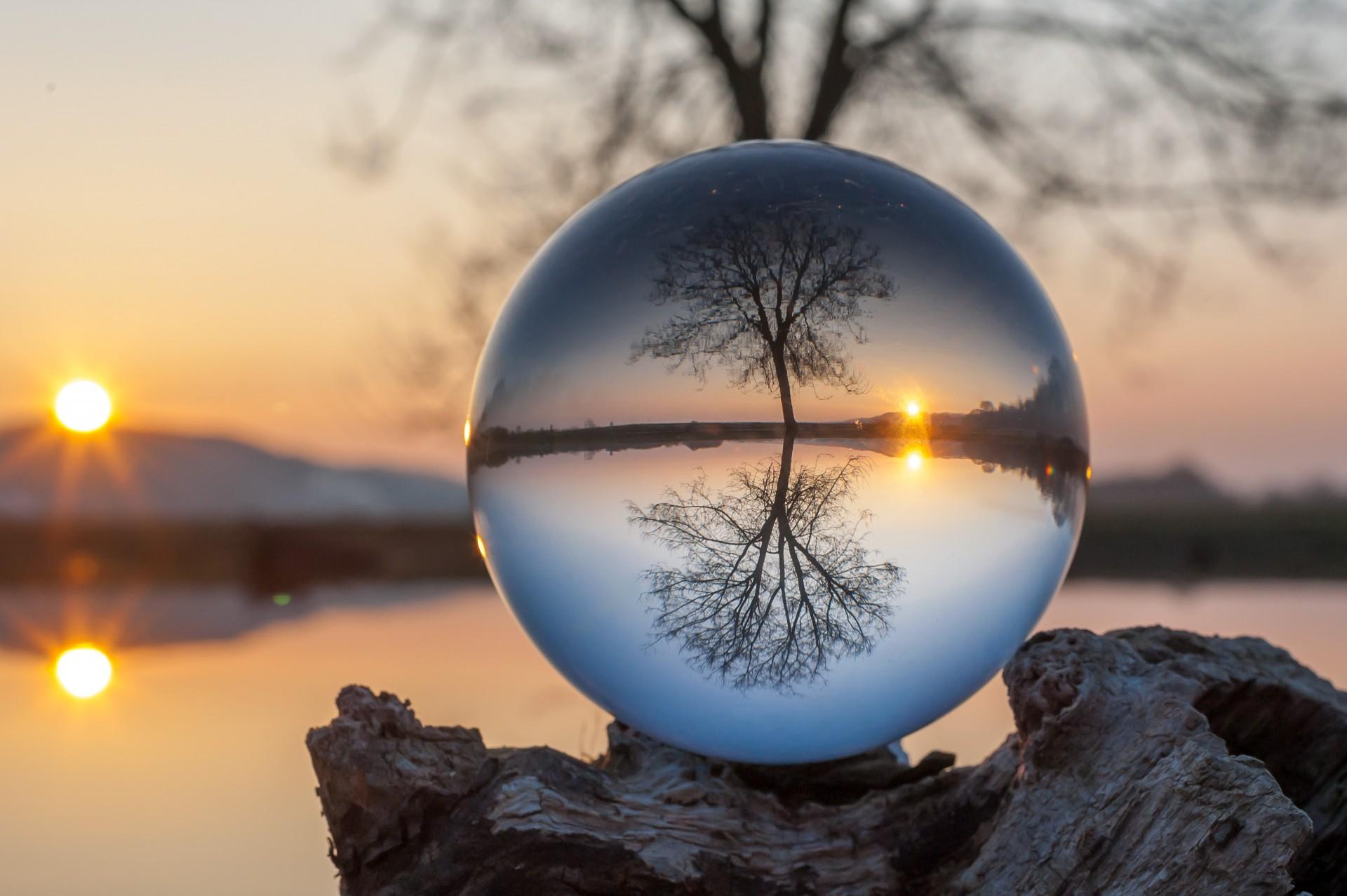 Buddha Hd Wallpaper 1080p Glass Ball Project Photographer Andrius Aleksandravičius