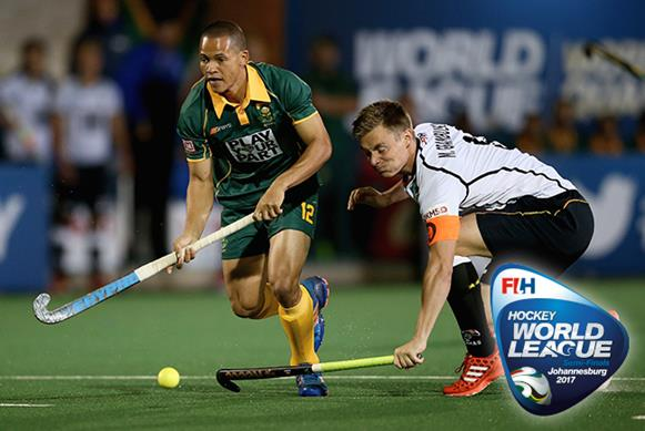 South Africa produced a valiant display against Germany but ended up defeated on Day 6. Copyright: FIH / Getty Images