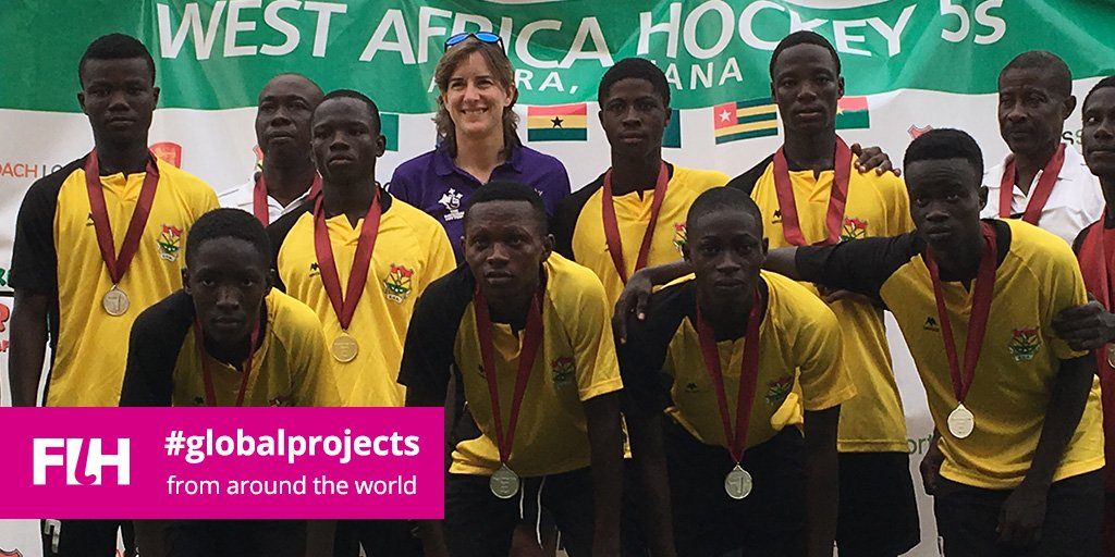 Olympic legend Dame Katherine Grainger recently visited FIH's TAP in Ghana Photo: UK Sport