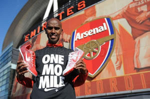 Mo Farah veut entrainer à Arsenal