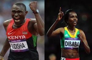 Rudisha et Dibaba nominés