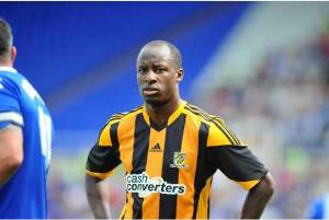 Sport for Phil Buckingham - 27-7-13 Pre season friendly game between Hull City and Birmingham City at St Andrews, Birmingham. Pictured is Sone Aluko.    Final score Birmingham 2 - Hull 1 Picture: Peter Harbour