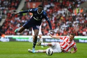Emmanuel+Adebayor+Stoke+City+v+Tottenham+Hotspur+wz0hLV5VqKTl