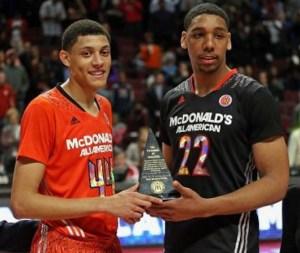 Justin Jackson _Jahlil Okafor_MVP McDonald's All-American Game