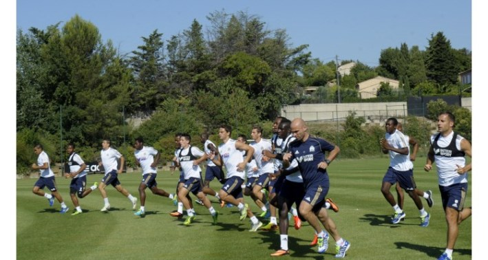 FOOTBALL : Entrainement Olympique de Marseille (OM) - 15/08/2013