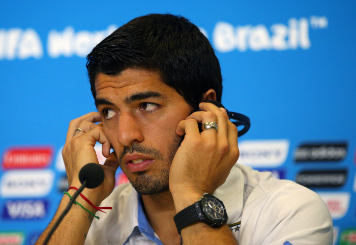 FOOTBALL : Uruguay  - Conference de Presse - Coupe du Monde 2014 - 23/06/2014