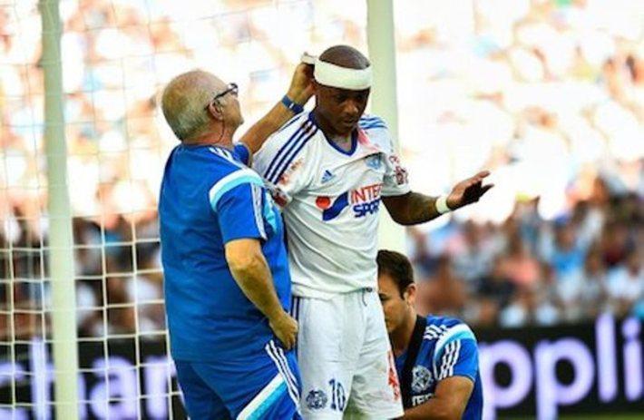 Andre AYEW - 17.08.2014 - Marseille / Montpellier - 2eme journee de Ligue 1 Photo : Fred Porcu / Icon Sport
