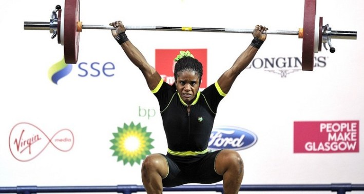 Nigeria's gold medalist Chika Amalaha co