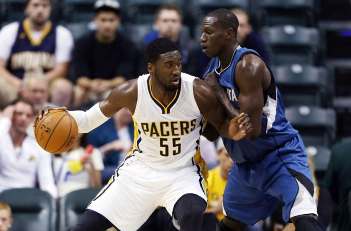 gorgui dieng_roy hibbert_nba preseason minnesota timberwolves vs indiana pacers