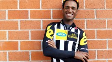 African rider, Natnael Berhane, before a ride at the Team MTN-Qhubeka service course in Lucca, Italy on Wednesday March 18, 2015.Natnael Berhane is certainly one of the most talented riders on the African Continent. He proved this by winning the continental championships on 2 occasions now. Natnael was also the first black African rider to win a European race when he won the Queen stage and the overall classification of the Tour of Turkey.Natnael also won the most prestigious African stage race in 2014, the Tour of Gabon by craftily outsprinting multiple Tour de France stage winner Luis Leon Sanchez. It was only natural that one of Africa's best riders would join Africa's team for the 2015 season. Natnael will certainly be one of the protected GC riders during the course of the year.