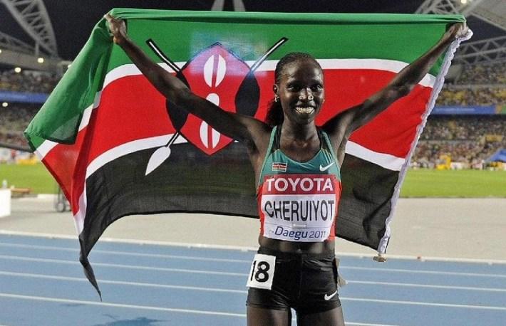 Vivian Cheruiyot _cahmpionne du monde 2015 au 10 000m