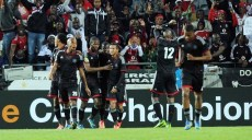 Orlando Pirates celebrates  during the CAF Champions League match between Orlando Pirates and Zamalek on the 17 August 2013 at Orlando Stadium ©Sydney Mahlangu /BackpagePix