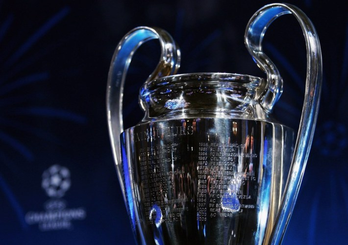PARIS - MARCH 10:  The New Champions League Trophy is seen on display during the UEFA Champions League Trophy Handover & Draw at The Hotel de Ville on March 10, 2006 in Paris, France.  (Photo by Shaun Botterill/Getty Images)