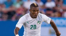 Jun 4, 2014; Frisco, TX, USA; Ivory Coast midfielder Serey Die Geoffroy (20) during the game against El Salvador at Toyota Stadium. Ivory Coast defeats El Salvador 2-1. Mandatory Credit: Jerome Miron-USA TODAY Sports