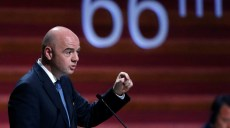 FIFA President Gianni Infantino gives a speech during the 66th FIFA Congress in Mexico City, Mexico, May 13, 2016. REUTERS/Edgard Garrido - RTX2E8J4