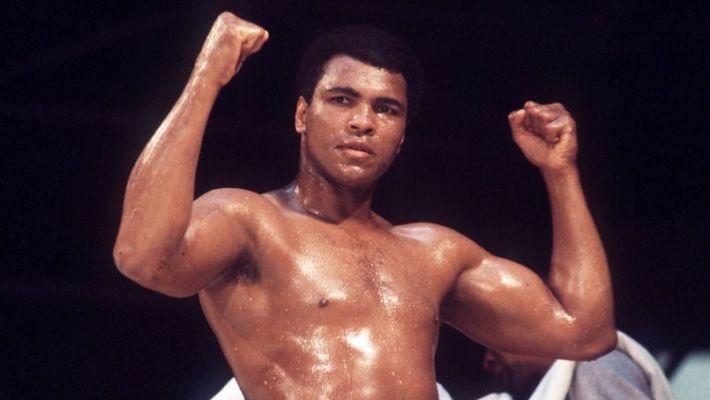 Joie de Mohamed Ali (USA) - Championnat du Monde 1976 - 24.05.1976  -