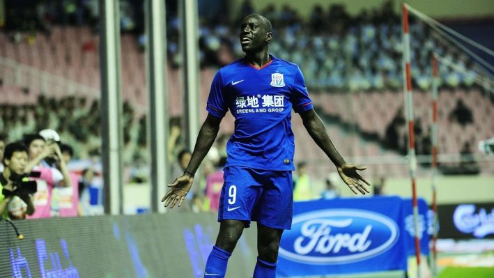 July 15, 2015 - Shanghai, People s Republic of China - Shanghai Shenhua forward DEMBA BA celebrating a score during the match against Beijing Guoan at Shanghai Stadium in Shanghai. Soccer 2015 - China Super League - Shanghai Shenhua Defeats Beijing Guoan 3 - 1 PUBLICATIONxINxGERxSUIxAUTxONLY - ZUMAm119  July 15 2015 Shanghai Celebrities s Republic of China Shanghai Shenhua Forward Demba Ba celebrating A Score during The Match Against Beijing GuoAn AT Shanghai Stage in Shanghai Soccer 2015 China Super League Shanghai Shenhua Defeats Beijing GuoAn 3 1 PUBLICATIONxINxGERxSUIxAUTxONLY ZUMAm119
