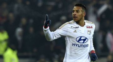 Lyon's French midfielder Corentin Tolisso celebrates after scoring a goal during the French L1 football match Olympique Lyonnais (OL) vs Olympique de Marseille (OM) on January 24, 2016, at the Parc Olympique Lyonnais stadium in Decines-Charpieu, central-eastern France. / AFP / PHILIPPE DESMAZES        (Photo credit should read PHILIPPE DESMAZES/AFP/Getty Images)