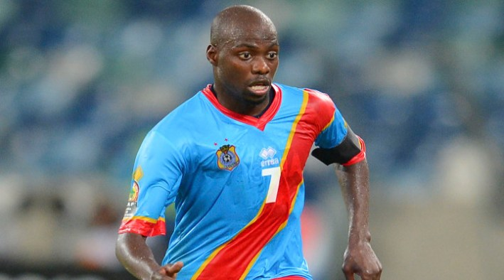 Youssouf Mulumbu of the Democratic Republic of Congo during the 2013 Orange Africa Cup of Nations football match between DR Congo and Mali at the Moses Mabhida Stadium in Durban, South Africa, on January 28, 2013©Barry Aldworth/BackpagePix
