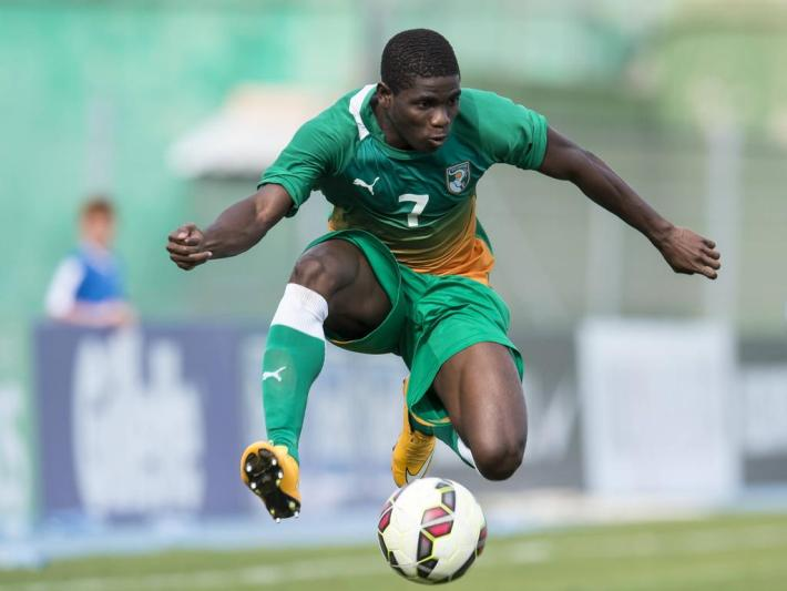 Roger Claver Assale of Cote d Ivoire U21 U 21 during the Festival International Espoirs de Football tournament match between Morocco U21 and Cote d Ivoire U21 on June 1, 2015 at Stade Marcel Roustan in Salon de Provence, France. Morocco U21 v Cote d Ivoire U21 Festival International Espoirs 2014/2015 xVIxGerritxvanxKeulenxIVx PUBLICATIONxINxGERxSUIxAUTxHUNxPOLxJPNxONLY 3933157Roger Claver  of Cote D Ivoire U21 u 21 during The Festival International Espoirs de Football Tournament Match between Morocco U21 and Cote D Ivoire U21 ON June 1 2015 AT Stade Marcel Roustan in Salon de Provence France Morocco U21 v Cote D Ivoire U21 Festival International Espoirs 2014 2015 xVIxGerritxvanxKeulenxIVx PUBLICATIONxINxGERxSUIxAUTxHUNxPOLxJPNxONLY