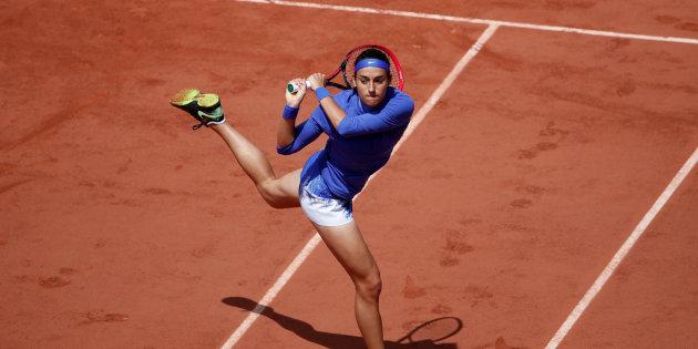 Tennis - French Open - Roland Garros, Paris, France - June 7, 2017   France's Caroline Garcia in action during her quarter final match against Czech Republic's Karolina Pliskova   Reuters / Benoit Tessier