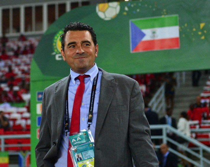 Esteban Becker, coach of Equatorial Guinea during the 2015 Africa Cup of Nations quarterfinal football match between Tunisia and Equatorial Guinea at Bata Stadium, Bata, Equatorial Guinea on 31January 2015 ©Gavin Barker/BackpagePix