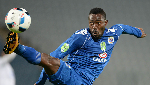 JOHANNESBURG, SOUTH AFRICA - MARCH 08: Dove Wome of SuperSport during the Nedbank Cup, Last 32 match between Moroka Swallows and SuperSport United at Dobsonville Stadium on March 08, 2016 in Johannesburg, South Africa. (Photo by Lefty Shivambu/Gallo Images)
