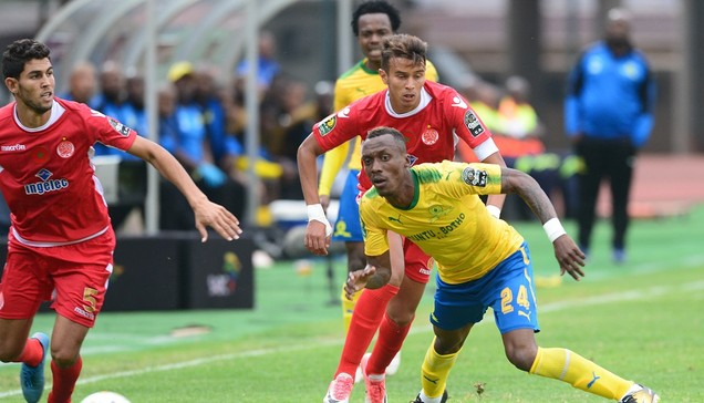PRETORIA, SOUTH AFRICA - SEPTEMBER 17: Yannick Zakri of Mamelodi Sundowns during the CAF Champions League match between Mamelodi Sundowns and Wydad Athletic Club at Lucas Moripe Stadium on September 17, 2017 in Pretoria, South Africa. (Photo by Lee Warren/Gallo Images)