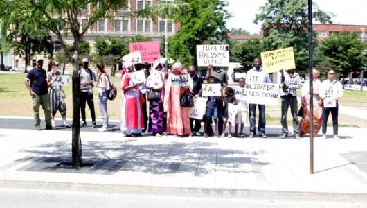 Mauritanie-Canada:  Manifestation organisée par IRA-Canada pour la lutte contre le racisme d'État en Mauritanie.
